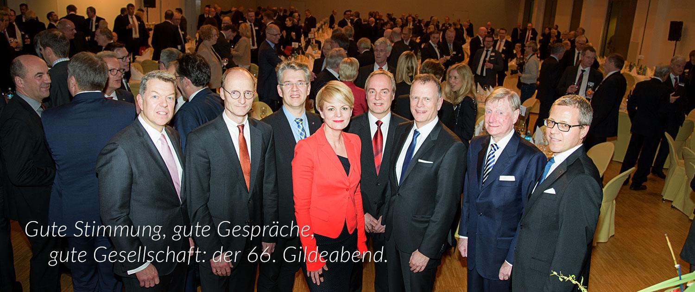 Vorstand der Gesellschaft Union auf dem 66. Gildeabend