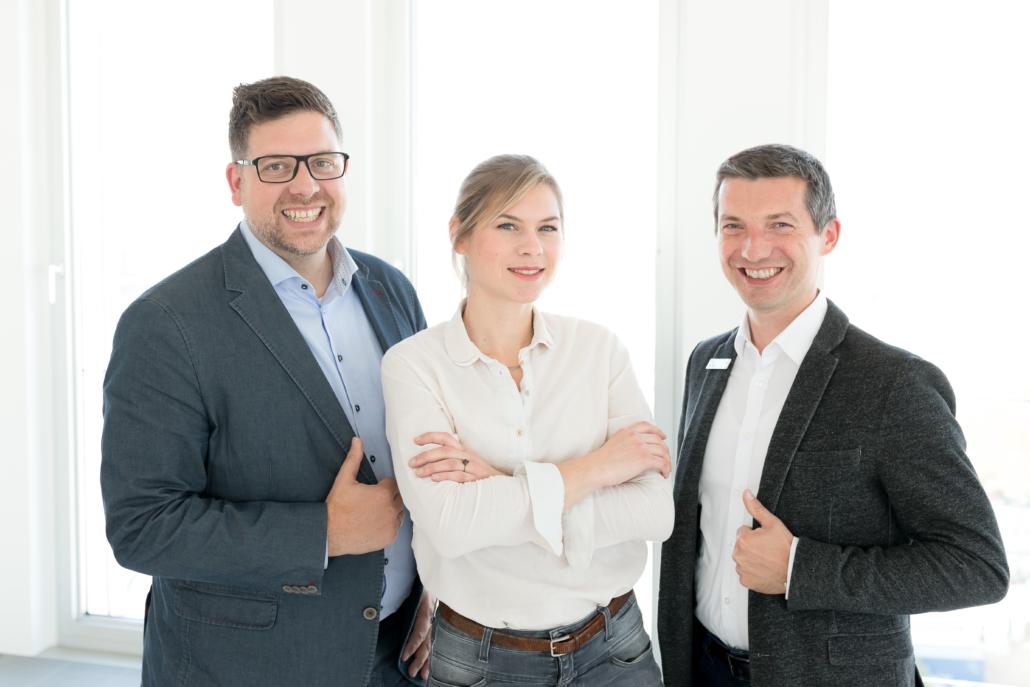 Sprecher der Gildejunioren (v.l.n.r.): Sprecher Sascha Tebben, stellv. Sprecherin Astrid Büsselmann und Kassenwart Björn Gribbe